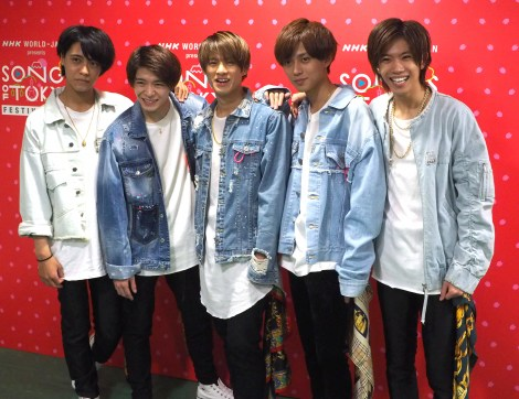 『SONGS OF TOKYO FESTIVAL 2019』の公開収録に出演したKing & Prince(左から)高橋海人、岸優太、平野紫耀、永瀬廉、神宮寺勇太 (C)ORICON NewS inc.