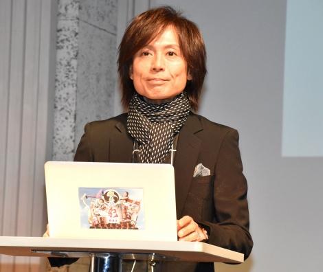 『和太鼓グループ彩-sai-』新曲発表記者会見に出席した、つんく♂ (C)ORICON NewS inc.