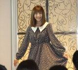 新レーベル「Maison de FLEUR Petite Robe canone」デビュー記念イベントに登場した神田沙也加 (C)ORICON NewS inc.