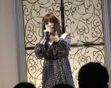 熱唱する神田沙也加=新レーベル「Maison de FLEUR Petite Robe canone」デビュー記念イベント