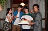 ドラマ『4分間のマリーゴールド』に出演する(左から)菜々緒、福士蒼汰、横浜流星、桐谷健太 (C)TBS