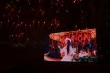 1年前の引退当日同様に沖縄で行われた音と光の花火ショーに4万人が来場