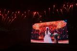 沖縄県宜野湾市のトロピカルビーチ特設会場で開催された『WE ▼ NAMIE HANABI SHOW』(▼=ハート)より