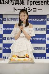 1st写真集『present』発売記念トークショーを開催した山口真帆