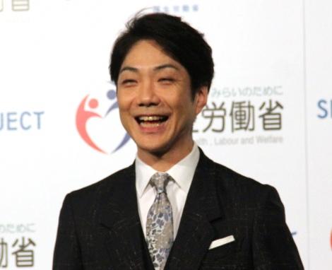 笑顔を伝授する野村萬斎=『睡眠啓発イベント』 (C)ORICON NewS inc.