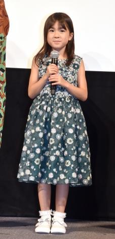 映画『駅までの道をおしえて』完成披露イベントに出席した新津ちせ (C)ORICON NewS inc.