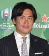 『ラグビーワールドカップ2019』のパブリックビューイング『爆音ラグビー』PRイベントに参加した大畑大介選手 (C)ORICON NewS inc.