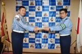9月21日、愛知県中村署の一日署長に就任した内藤剛志(C)テレビ朝日