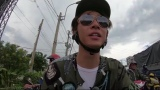 ツーリング企画でベトナム・ホーチミンを走る相葉雅紀 (C)日本テレビ
