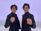 『嵐にしやがれ』の5日連続リリース第四弾「THISIS MJ」に出演する(左から)櫻井翔、松本潤(C)日本テレビ