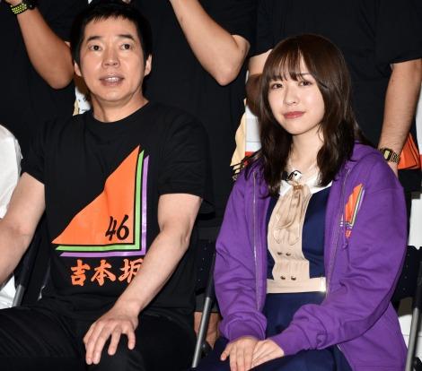 『吉本坂46緊急会議SP』後の取材会に出席した(左から)今田耕司、渡辺みり愛 (C)ORICON NewS inc.