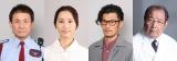 月9ドラマ『シャーロック』初回ゲストの(左から)木下ほうか、松井玲奈、淵上泰史、平泉成 (C)フジテレビ