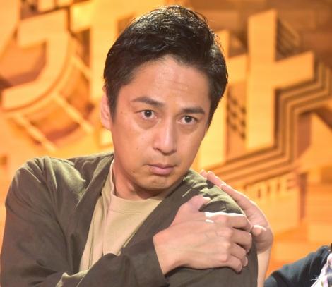 NHKの音楽番組『シブヤノオト』MC陣3人組ユニット「Croissant Moon Shyness」の取材会に出席した徳井義実 (C)ORICON NewS inc.