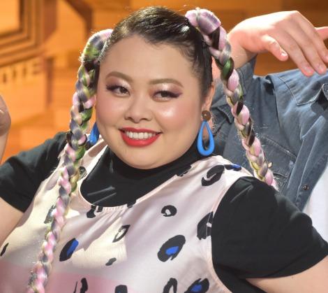 NHKの音楽番組『シブヤノオト』MC陣3人組ユニット「Croissant Moon Shyness」の取材会に出席した渡辺直美 (C)ORICON NewS inc.