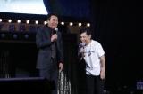 (左から)五木ひろし、岡村隆史=ライブイベント『岡村隆史のオールナイトニッポン歌謡祭2019』