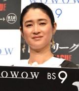 WOWOW連続ドラマW『トップリーグ』完成披露舞台あいさつに登壇した小雪 (C)ORICON NewS inc.