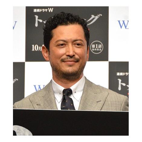 WOWOW連続ドラマW『トップリーグ』完成披露舞台あいさつに登壇した池内博之 (C)ORICON NewS inc.