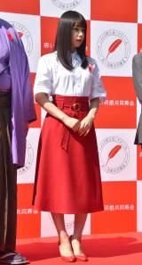『令和元年度 第73回赤い羽根共同募金』キックオフイベントに参加した桜井日奈子 (C)ORICON NewS inc.