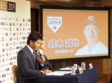 『ENEOS侍ジャパンシリーズ2019日本vs.カナダ』侍ジャパンメンバー28人の発表会見に出席した稲葉篤紀監督督