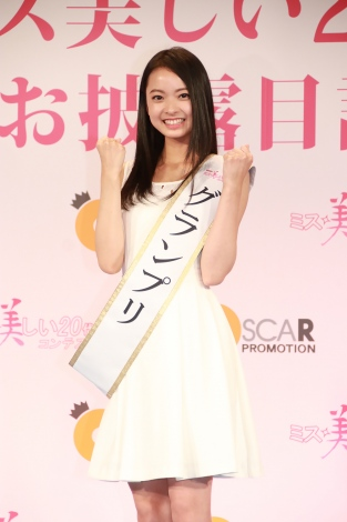 「第2回ミス美しい20代コンテスト」グランプリに輝いた愛知県の21歳・川瀬莉子さん(C)Deview