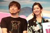 『ヴィンランド・佐賀』オープニングイベントに登場した(左から)松田健一郎、佐藤藍子 (C)ORICON NewS inc.