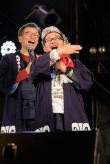 ディレクター陣の藤村忠寿(右手前)、嬉野雅道(左奥)=10月4日開催『水曜どうでしょう祭2019』(C)HTB