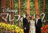 ディズニー映画『マレフィセント2』ジャパンプレミアのレッドカーペットイベントに登場した(左から)サム・ライリー、アンジェリーナ・ジョリー、MIYAVI (C)ORICON NewS inc.