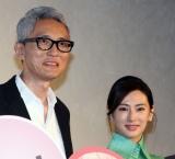 『ヒキタさん! ご懐妊ですよ』公開記念舞台あいさつに登壇した(左から)松重豊、北川景子 (C)ORICON NewS inc.