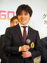 フィギュアスケート『グランプリシリーズ/ファイナル2019』記者会見に登壇した宇野昌磨 (C)ORICON NewS inc.