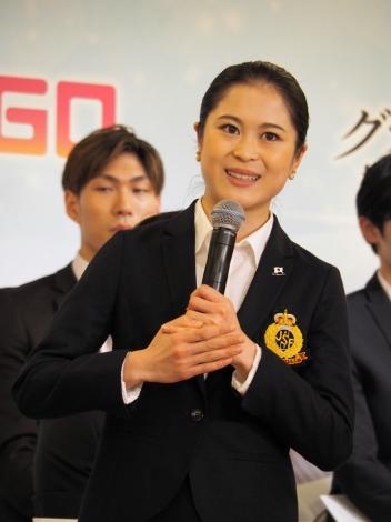 フィギュアスケート『グランプリシリーズ/ファイナル2019』記者会見に登壇した宮原知子 (C)ORICON NewS inc.