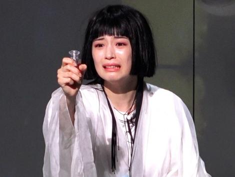 舞台初挑戦で迫真の演技を見せる広瀬すず=舞台『NODA・MAP 第23回公演「Q」:A Night At The Kabuki』公開ゲネプロ (C)ORICON NewS inc.