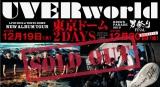 UVERworld 9年ぶり2度目の東京ドーム公演が2日間とも完売
