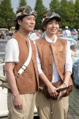 「GO!GO! ラリー in 東北」に参加した唐沢寿明(左)&山口智子夫妻