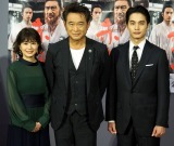 NHK・BS時代劇『赤ひげ2』の試写会に出席した(左から)佐津川愛美、船越英一郎、中村蒼 (C)ORICON NewS inc.