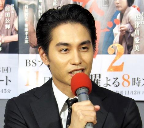NHK・BS時代劇『赤ひげ2』の試写会に出席した中村蒼 (C)ORICON NewS inc.