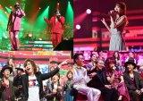 舞祭組・宮田俊哉(右下写真の前列右から2人目)が女装で盛り上げる90年代メドレー(C)TBS
