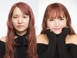 整形級デカ目メイクを披露した、YouTuberすうれろ(撮影:岡田一也)(C)oricon ME inc.