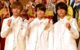 『ジャニーズ・アイランド』製作発表会見に登壇したKing & Prince(左から)永瀬廉、平野紫耀、高橋海人 (C)ORICON NewS inc.
