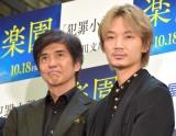 書店での映画イベントに喜ぶ(左から)佐藤浩市、綾野剛 (C)ORICON NewS inc.