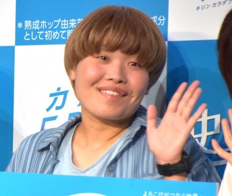 ノンアルビール『キリン カラダFREE』新CM完成披露発表会に出席したまひる (C)ORICON NewS inc.