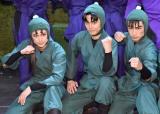 ミュージカル『「忍たま乱太郎」第10弾再演〜これぞ忍者の大運動会だ!〜』の公開ゲネプロに出席した(左から)湯本健一、渡辺和貴、新井雄也 (C)ORICON NewS inc.
