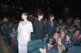 『シッチェス・カタロニア国際映画祭』に出席した(左から)吉岡里帆、吉沢亮、長井龍雪監督(C)2019 SORAAO PROJECT