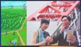 ひと足早くプレイした(左から)平井理央アナウンサー、小沢一敬=スマートフォン向けアプリ『ドラゴンクエスト』の新作発表会 (C)ORICON NewS inc.