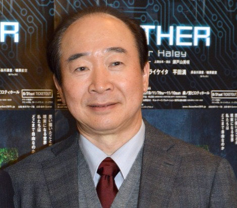 舞台『THE NETHER』の公開ゲネプロ後囲み取材に登壇した中村梅雀 (C)ORICON NewS inc.