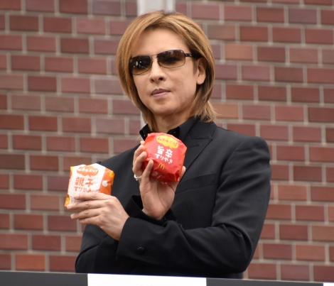 マクドナルド『てりやきマックバーガー』登場30周年記念イベントに登場したYOSHIKI (C)ORICON NewS inc.