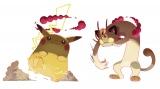 キョダイマックス化したピカチュウとニャース(c)2019 Pokemon. (c)1995-2019 Nintendo/Creatures Inc. /GAME FREAK inc.
