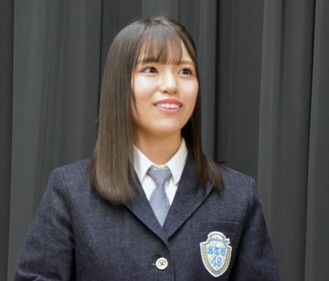BSフジ新番組『STU発⇒東京』初回収録に参加したSTU48の岩田陽菜 (C)ORICON NewS inc.
