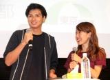 『レディGO! Project』イベントに登場した(左から)アレクサンダー、川崎希 (C)ORICON NewS inc.