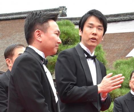 SDGs-1グランプリへの意気込みを語ったかまいたち(左から)山内健司、濱家隆一=『京都国際映画祭2019』のオープニングセレモニー (C)ORICON NewS inc.