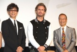 (左から)山寺宏一、フィリップ・ラショー、神谷明=実写映画『シティーハンター THE MOVIE 史上最香のミッション』完成披露イベント (C)ORICON NewS inc.